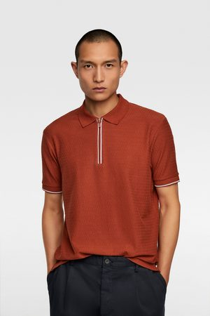 Zara Poloshirt mit strukturmuster
