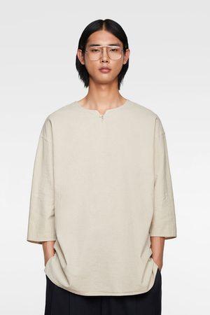 Zara Relaxed-fit-hemd aus festem stoff