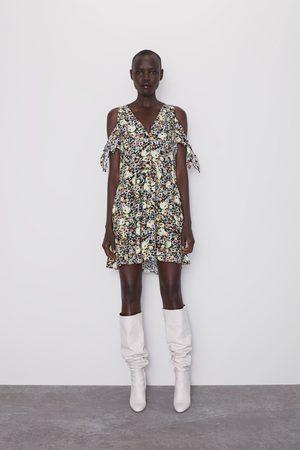 Zara Kleid mit blumenmuster und schleife