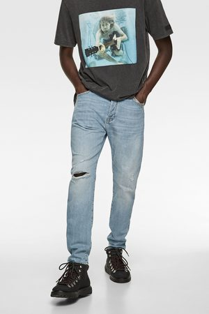 Zara Slim-fit-jeans mit rissen
