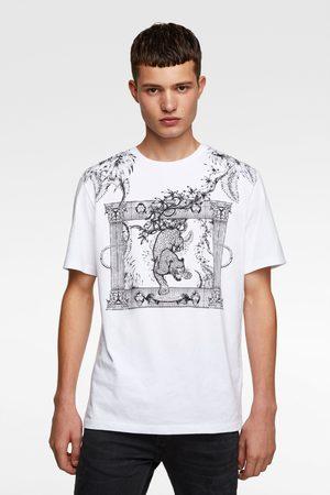 Zara Kombiniertes shirt mit stickerei