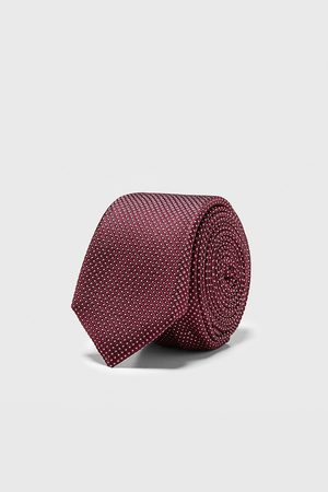 Zara Schmale jacquard-krawatte mit geometrischem muster
