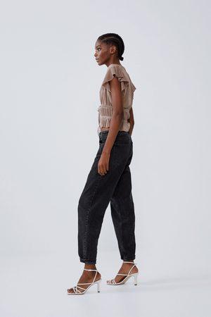 Zara Plissiertes shirt mit volants