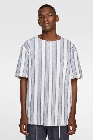 Zara Kombiniertes shirt mit streifen