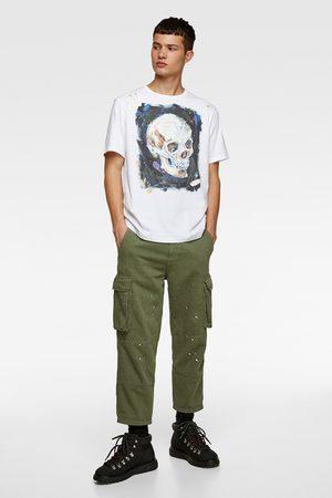 Zara Shirt mit totenkopfprint