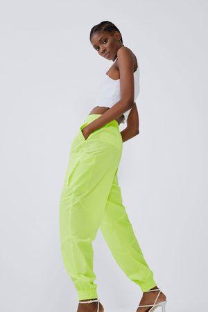 Zara Damen Jogginghosen - Jogginghose aus nylon