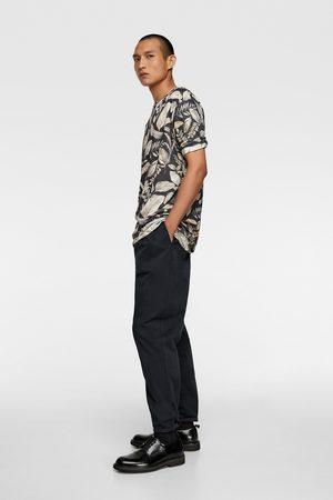 Zara T-shirt mit blumenmuster