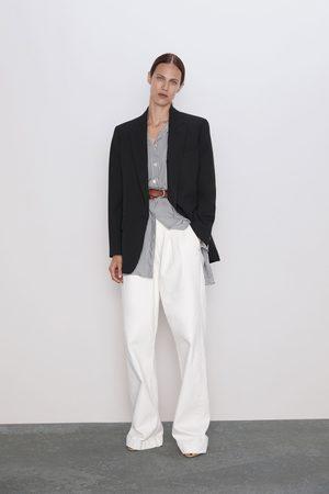 Zara Damen Blusen - Gestreiftes hemd mit streifen