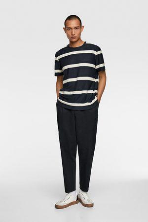 Zara Herren T-Shirts, Polos & Longsleeves - Gestreiftes jacquardshirt