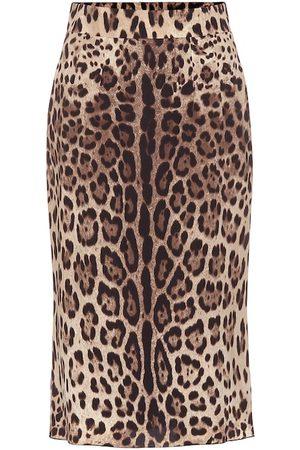Dolce & Gabbana Midirock aus einem Seidengemisch