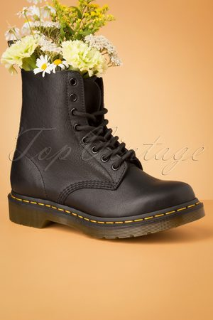 TopVintage 1460 Virginia Ankle Boots in Black