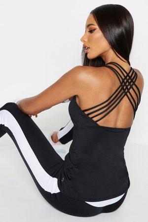 Boohoo Womens Fit Vest Top Zum Joggen Mit Rückenträgern - - 32