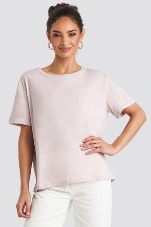 NA-KD Damen Shirts - Basic Oversized Tee - Pink
