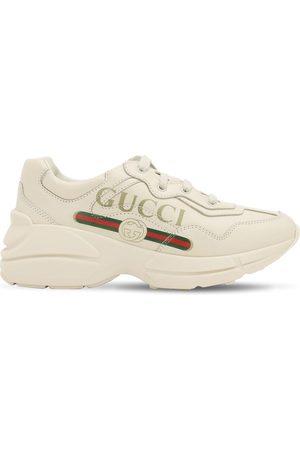 Gucci Ledersneakers Mit Logodruck