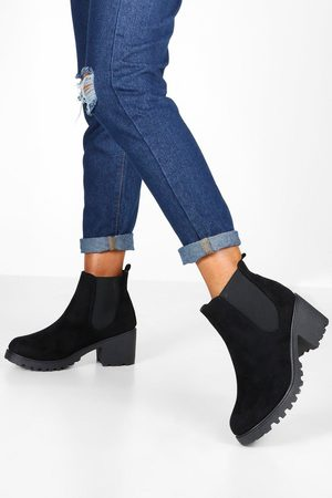 Boohoo Womens Chelsea-Boots mit dicker Profilsohle - - 36