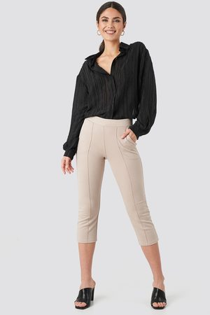 NA-KD Elastic Waist Front Seam Pants