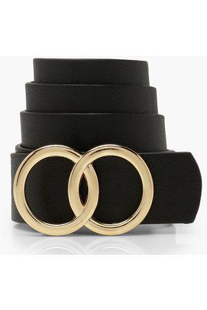 Boohoo Womens Plus Boyfriend-Gürtel mit zwei Ringen - - ONE SIZE