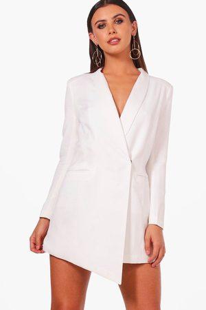 Boohoo Womens Petite asymmetrisches Blazer-Kleid - - 40