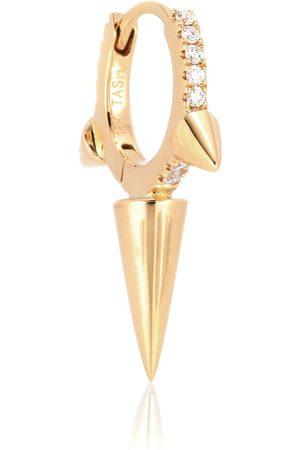 Maria Tash Einzelner Ohrring Triple Long Spike Eternity Ring aus 18kt Gelbgold mit Diamanten
