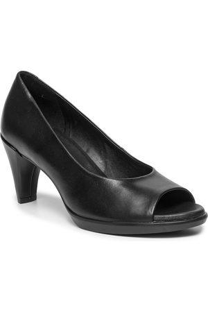 Ecco Halbschuhe - Shape 55 Peep Toe Sleek 26830301001 Black