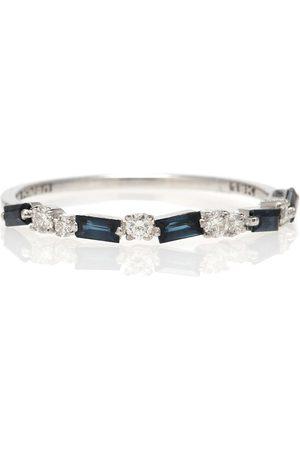 Suzanne Kalan Ring aus 18kt Weißgold mit Saphiren und Diamanten
