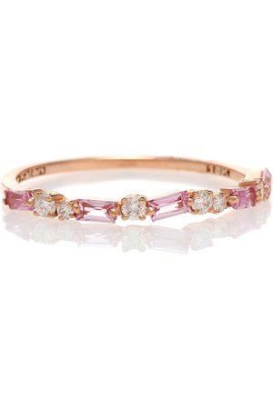 Suzanne Kalan Damen Ringe - Ring Ruby Half Eternity aus 18kt Gold mit Saphiren und Diamanten