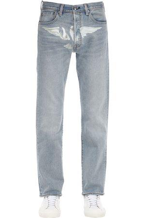 3.Paradis Vicki Dove Printed Cotton Denim Jeans