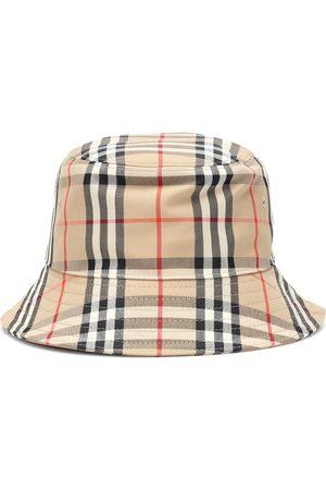 Burberry Karierter Hut mit Baumwollanteil