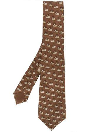 Hermès 2000s pre-owned Krawatte mit Schiffs-Print
