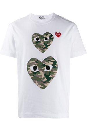 Comme des Garçons Camouflage-T-Shirt mit Herz
