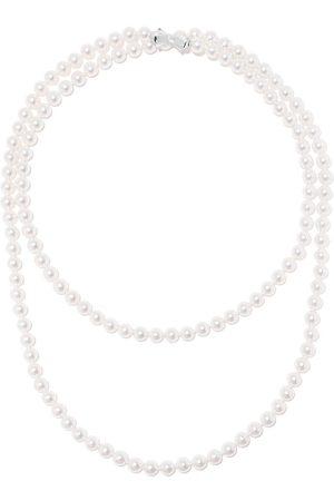 TASAKI 18kt Weißgoldhalskette mit Perlen