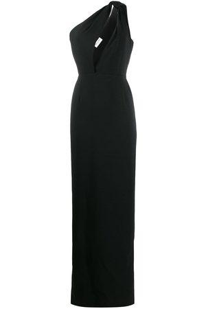 Saint Laurent One shoulder long dress