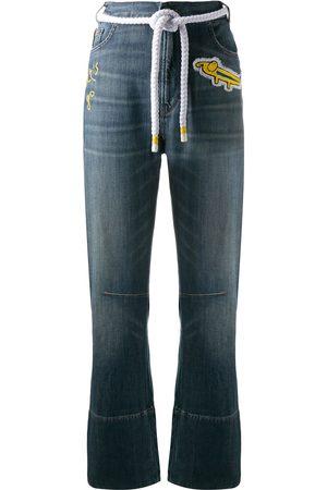 MIRA MIKATI Damen Straight - Bestickte Jeans