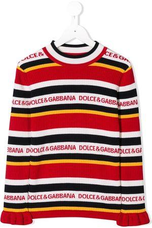 Dolce & Gabbana Gestreifter Pullover mit Logos