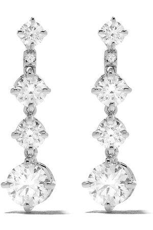 De Beers 18kt 'Arpeggia' Weißgoldohrringe mit Diamanten