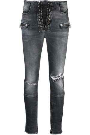 Unravel Project Skinny-Jeans im Distressed-Look