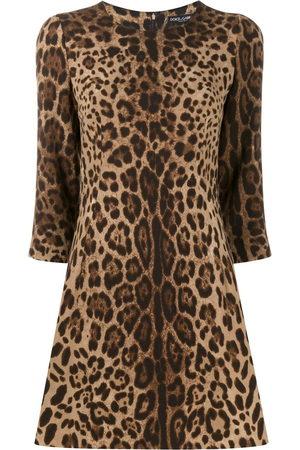 Dolce & Gabbana Kleid mit Leoparden-Print