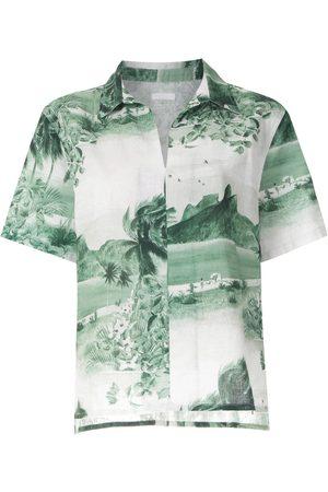 OSKLEN Damen Blusen - Kurzärmeliges Hemd mit Print