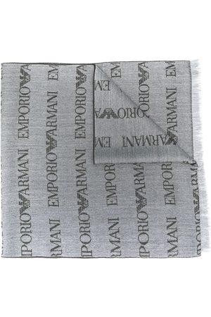 Emporio Armani Herren Schals - Schal mit Logo-Stickerei