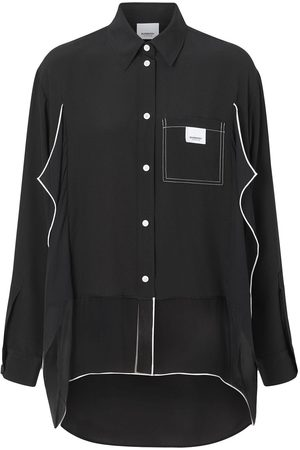 Burberry Damen Blusen - Oversized-Hemd mit Paspeln