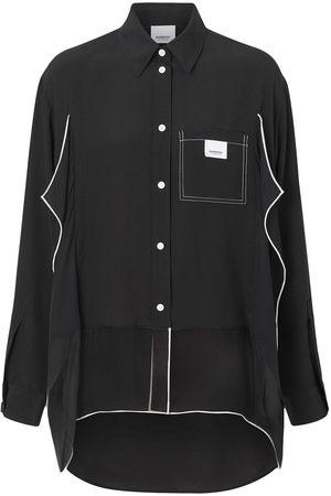 Burberry Oversized-Hemd mit Paspeln
