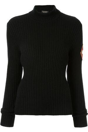 Chanel Pre-Owned Gerippter Pullover mit Stehkragen
