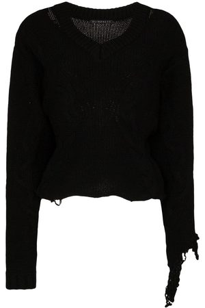Blindness Pullover im Distressed-Look