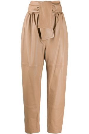 ZIMMERMANN Damen Lederhosen - Tapered-Lederhose