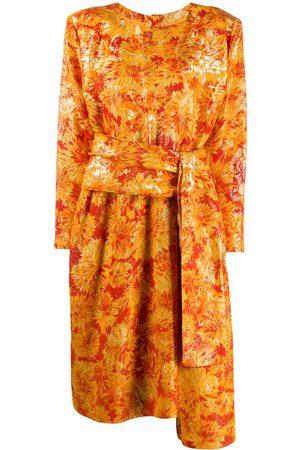 Yves Saint Laurent Damen Bedruckte Kleider - Lurex-Kleid mit Blumenmuster
