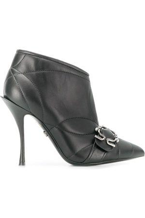 Dolce & Gabbana Damen Stiefeletten - Gesteppte Stiefeletten aus Leder