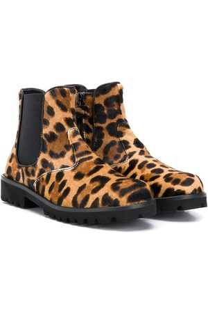 Dolce & Gabbana Kids Chelsea-Boots mit Leopardenmuster