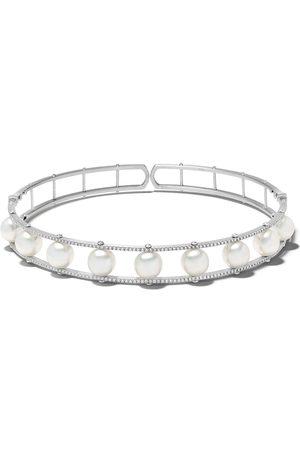 Yoko London Damen Halsketten - 18kt 'Novus' Choker aus Weißgold mit Südseeperlen und Diamanten
