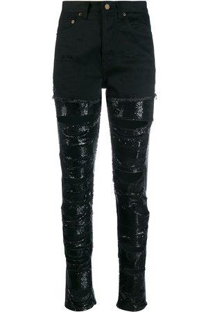 Saint Laurent Jeans mit Pailletten