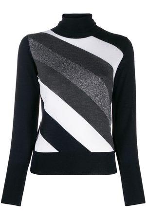 LORENA ANTONIAZZI Damen Strickpullover - Pullover mit diagonalen Streifen